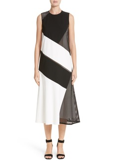 Lafayette 148 New York Nuri Laser Cut Midi Dress