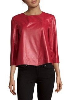 Lafayette 148 New York Odene Solid Leather Top