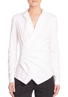 Lafayette 148 New York Odetta Ruched Blouse