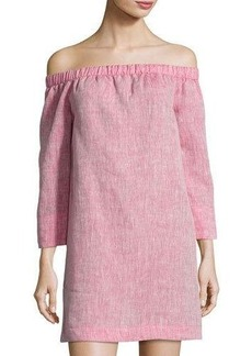 Lafayette 148 New York Off-the-Shoulder Linen Tunic