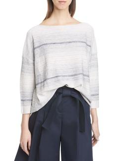 Lafayette 148 New York Ombré Silk & Linen Blend Sweater