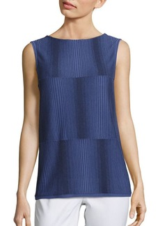 Lafayette 148 New York Ombré Stitch Tank Top