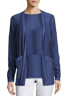 Lafayette 148 Ombre Stitch Open Cardigan