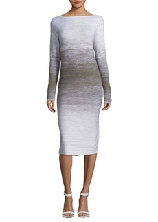 Lafayette 148 New York Ombre Stitch Wool Dress