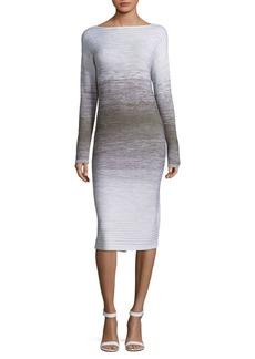 Lafayette 148 Ombre Stitch Wool Dress