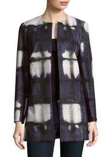 Lafayette 148 New York Open-Front Tie-Dyed Jacket