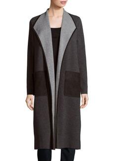 Lafayette 148 New York Open-Front Wool Blend Coat