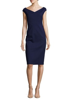 Lafayette 148 New York Open V-Neck Dress