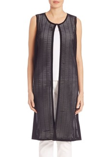 Lafayette 148 New York Opulent Shadow-Striped Vest