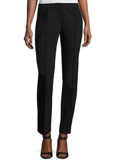 Lafayette 148 New York Orchard Stretch-Knit Straight-Leg Pants