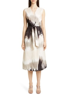 Lafayette 148 New York Orielle Tie Dye Midi Dress