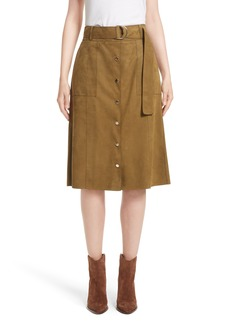 Lafayette 148 New York Orla Leather Skirt