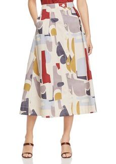 Lafayette 148 New York Orly Printed Midi Skirt