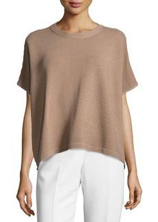 Lafayette 148 New York Ottoman Short-Sleeve Sweater