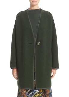 Lafayette 148 New York Oversize Coat with Resin Button