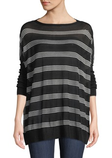Lafayette 148 New York Oversized Voile Pullover Sweater