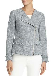 Lafayette 148 New York Owen Tweed Moto Jacket