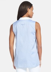 Lafayette 148 New York 'Oxford Daisy' Sleeveless Blouse