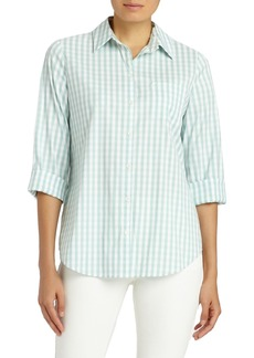 Lafayette 148 New York Paget Gingham Blouse