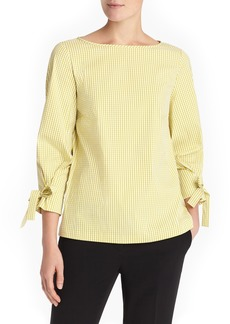 Lafayette 148 New York Paige Ithaca Mini Check Blouse