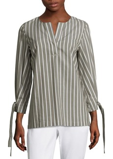 Paige Striped Tie-Sleeve Blouse