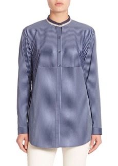 Lafayette 148 New York Palace Strip Shirting Nicoletta Blouse