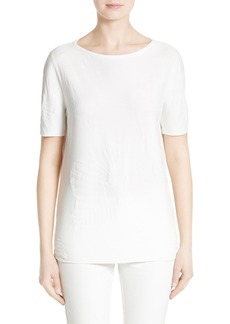 Lafayette 148 New York Palm Jacquard Top