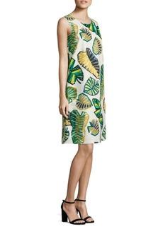 Lafayette 148 New York Palmer Palm-Print Shift Dress