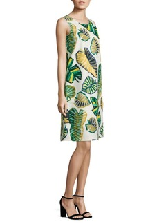 Lafayette 148 Palmer Palm-Print Shift Dress