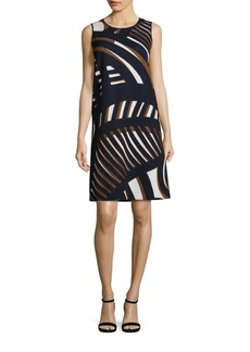 Lafayette 148 New York Palmer Printed Shift Dress