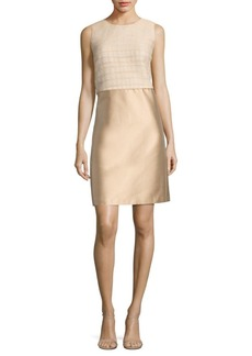 Lafayette 148 Paolo Mixed Media Dress