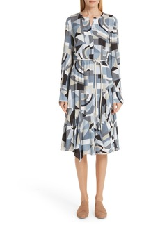 Lafayette 148 New York Paris Genteel Geometry Crepe Dress