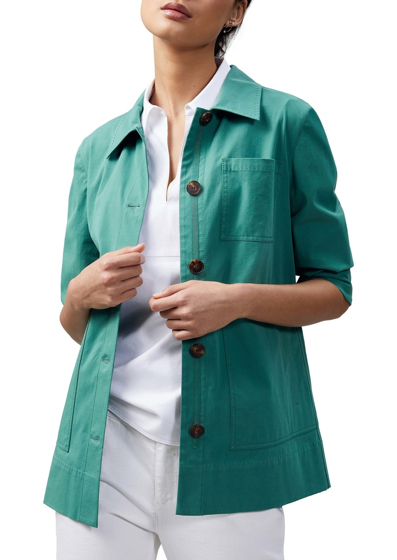 Lafayette 148 New York Pascal Stretch Cotton Jacket