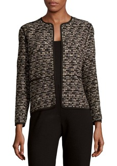 Lafayette 148 New York Pascale Open-Front Textured Jacket