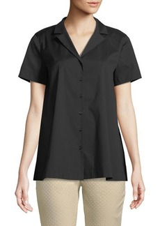Lafayette 148 New York Paula Notch-Collar Blouse