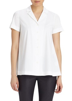 Lafayette 148 New York 'Paula' Stretch Cotton Blouse
