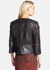 Lafayette 148 New York 'Paz' Lambskin Leather Jacket (Regular & Petite)
