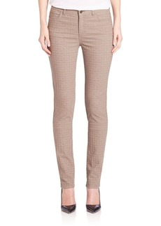 Lafayette 148 New York Pebble Jacquard Skinny Jeans