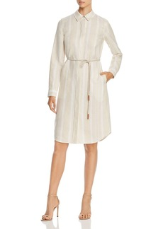Lafayette 148 New York Peggy Striped Linen Shirtdress
