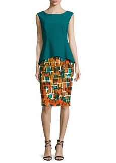 Lafayette 148 New York Penny Sleeveless Peplum Dress