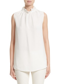Lafayette 148 New York Percy Silk Double Georgette Blouse