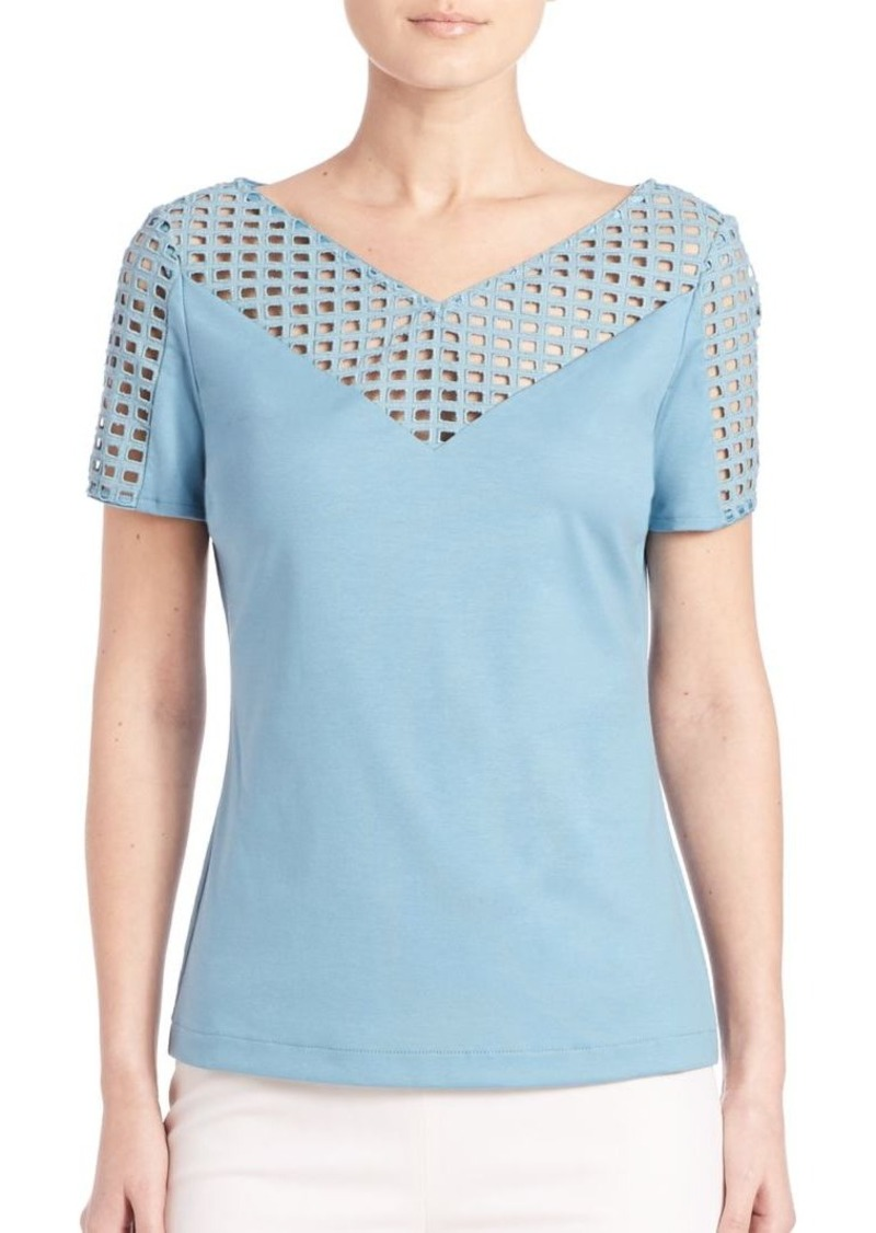 Lafayette 148 New York Perforated Top