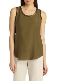 Lafayette 148 New York Perla Reversible Silk Blouse