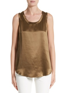 Lafayette 148 New York Perla Reversible Silk Blouse