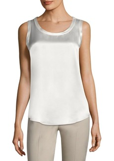 Lafayette 148 New York Reversible Perla Silk Blouse