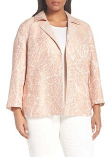 Lafayette 148 New York Phillipe Linen Jacket (Plus Size)