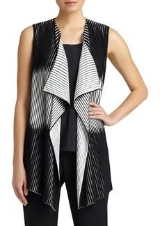 Lafayette 148 New York Pleat Crepe Knit Vest