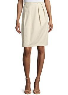 Lafayette 148 New York Pleated A-Line Skirt