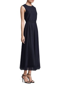Pleated Charlotte A-Line Dress