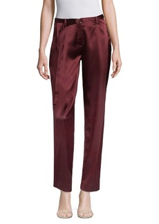 Pleated Cropped Ankle Pants